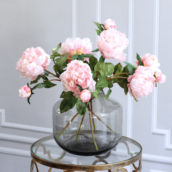 luxury artificial fake silk flowers light pink open peony lifelike realistic faux flowers buy online from Amaranthine Blooms Hong Kong UK