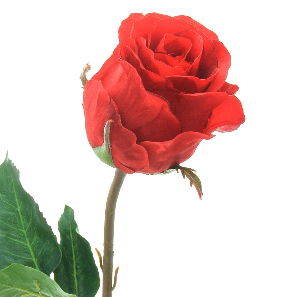 luxury artificial fake silk flowers red large rose bud lifelike realistic faux flowers buy online from Amaranthine Blooms Hong Kong UK