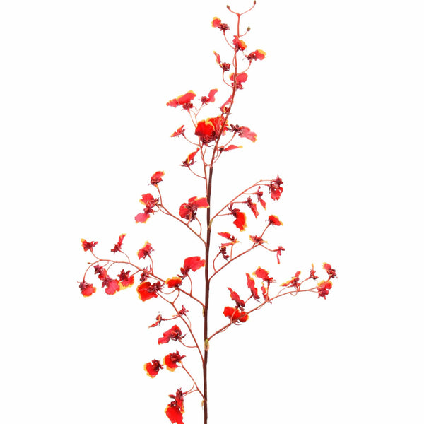 luxury artificial fake silk flowers red oncidium stem lifelike realistic faux flowers buy online from Amaranthine Blooms Hong Kong UK