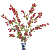 artificial flowers luxury faux silk red shiny berry lifelike realistic faux flowers buy online from Amaranthine Blooms UK