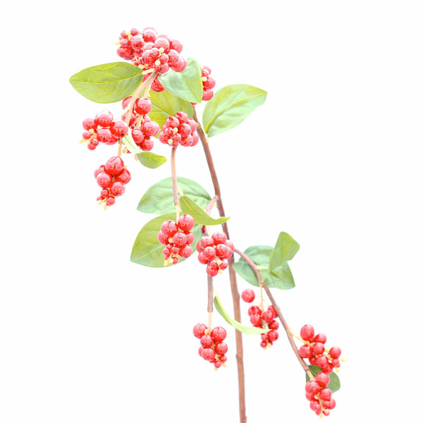 luxury artificial fake silk flowers red shiny berry lifelike realistic faux flowers buy online from Amaranthine Blooms Hong Kong UK