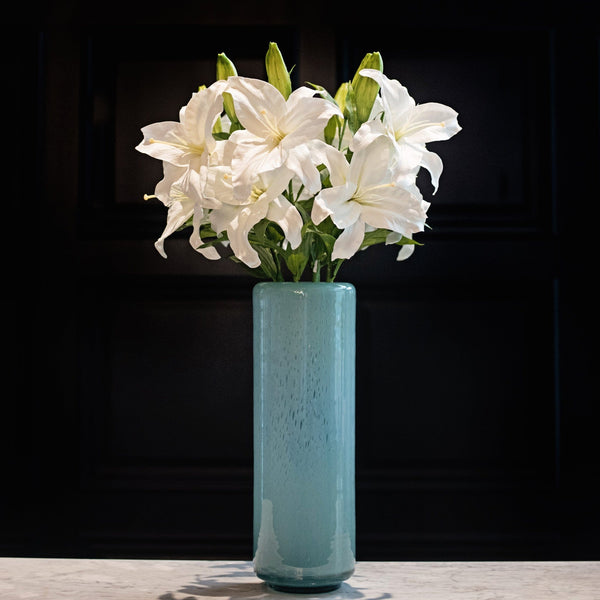 Artificial flowers luxury faux silk white casablanca lily lifelike realistic faux flowers buy online from Amaranthine Blooms UK