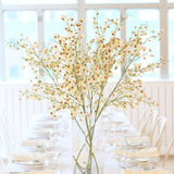 luxury artificial fake silk flowers white oncidium stem lifelike realistic faux flowers buy online from Amaranthine Blooms UK