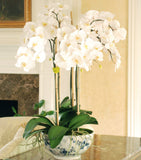 luxury artificial fake silk flowers white orchid plant lifelike realistic faux flowers buy online from Amaranthine Blooms Hong Kong UK