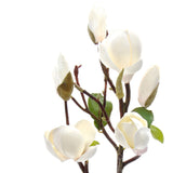luxury artificial fake silk flowers white tall magnolia branch lifelike realistic faux flowers buy online from Amaranthine Blooms Hong Kong UK