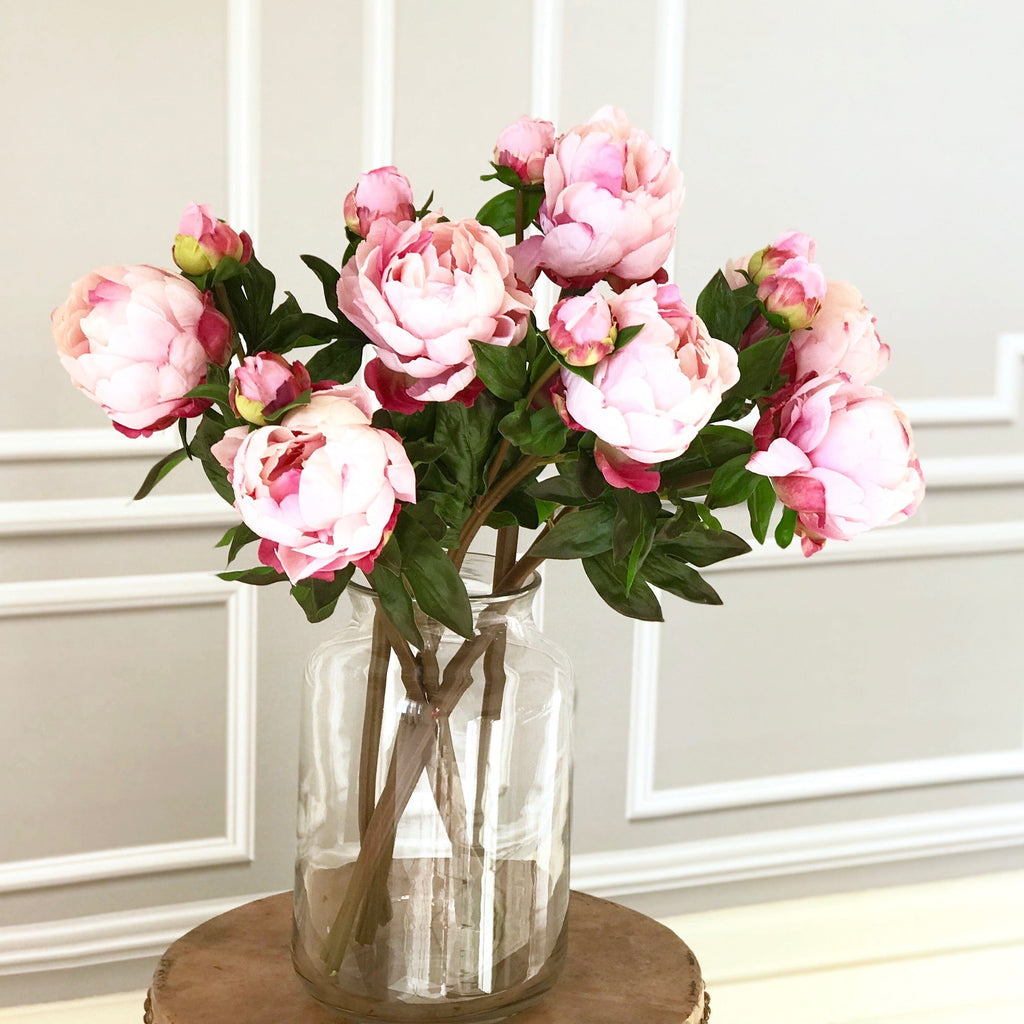 Luxury Artificial Pink Large Peony Amaranthine Blooms