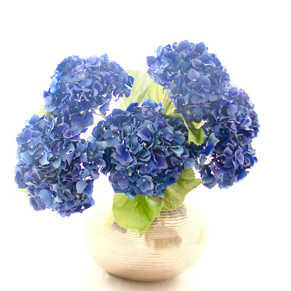 Artificial flowers luxury faux silk blue dried hydrangea lifelike realistic faux flowers buy online from Amaranthine Blooms UK