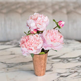 Artificial flowers luxury faux silk pale pink open peony lifelike realistic faux flowers buy online from Amaranthine Blooms UK