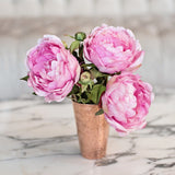 this luxury lifelike and realistic artificial pink peony silk flower is available from Amaranthine Blooms in Hong Kong and UK