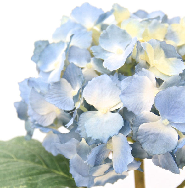 this luxury lifelike and realistic artificial blue lacecap hydrangea silk flower is available from Amaranthine Blooms in Hong Kong and UK
