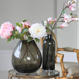 smoky grey tall vase