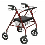 Go-Lite Bariatric Steel Rollator with Padded Seat and Backrest