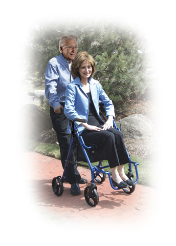 Duet Two in One Transport Wheelchair & Rollator Walker by Drive Medical
