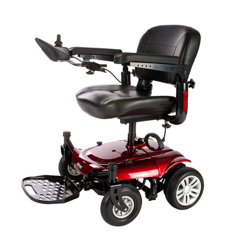 Cobalt X23 Power Wheelchair with Adjustable Folding Seat - Red or Blue