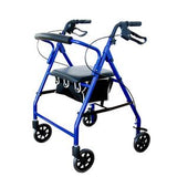 Curved Back Soft Seat Rollator Walker with Wheels - Cardinal Health