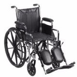 Chrome Sport Wheelchair with Padded Leg Rests
