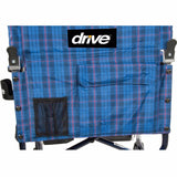 Fly-Lite Aluminum Transport Chair with Plaid Upholstery