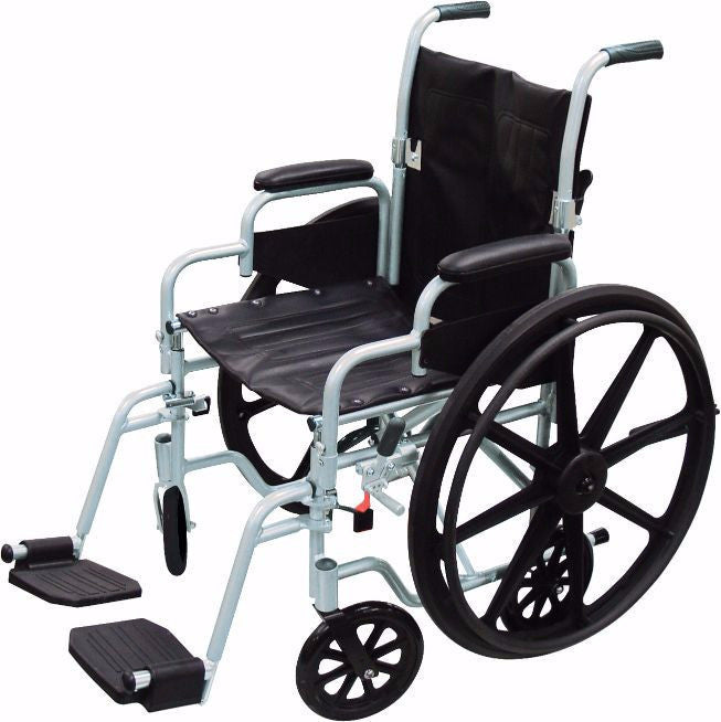 Poly-Fly Two-in-One Lightweight Manual Wheelchair / Transport Chair