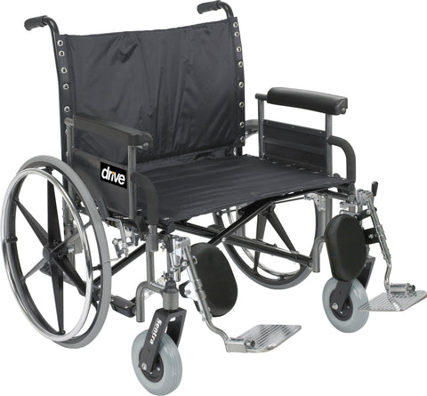 Sentra Heavy Duty Manual Wheelchair - Bariatric - 700 lb capacity