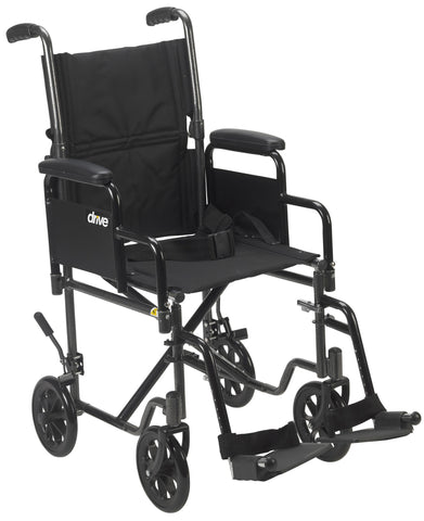 Steel Transport Chair with Removable Arms