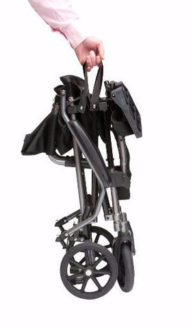 Travelite Ultra Compact Folding Transport Wheelchair in a Bag