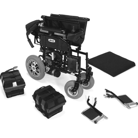 "Wildcat 450 Heavy Duty Folding Power Wheelchair, 24"" Seat"