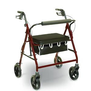 Bariatric Rollator Marbled Burgundy - 400 LB Capacity