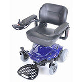 Cobalt Travel Power Wheelchair with Folding Seat - Red or Blue
