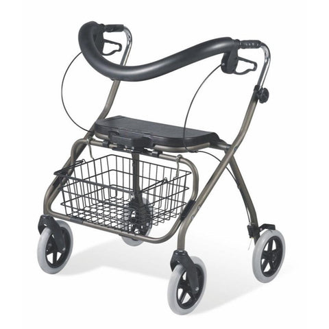 Guardian Deluxe Bariatric Rollator with Padded Seat and Backrest