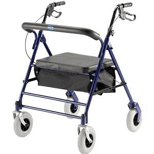 Invacare Bariatric Rollator with Padded Seat, Back Rest & Carry Pouch