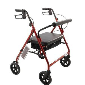 Roscoe Medical Bariatric Rollator with Padded Seat - 400 lb Capacity