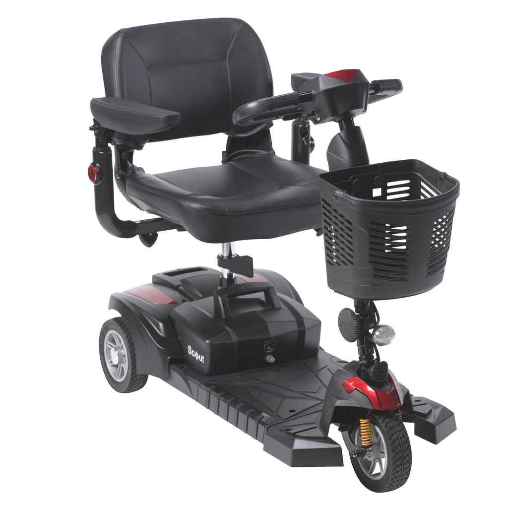 power chairs and scooters. Scout Compact Travel Power Mobility Scooter, 3 Wheel Chairs And Scooters