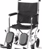 Steel Transport Wheelchair by Cardinal Health with 19 Inch Seat