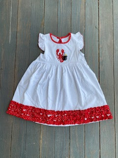 Lets get cray ruffle toddler dress
