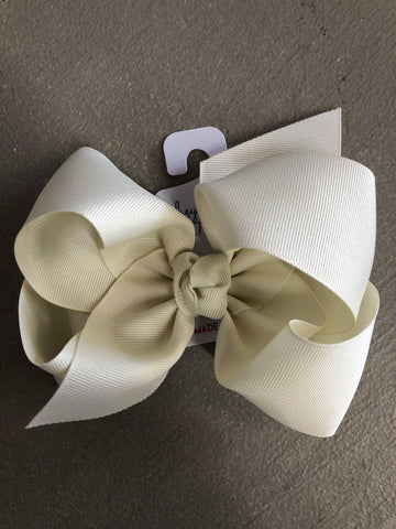 Antique White Bow on Headband