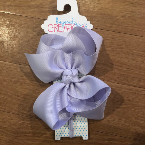 Powder Purple Bow on Headband