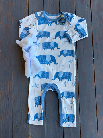 Blue Elephants Coverall