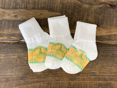 Newborn White Socks