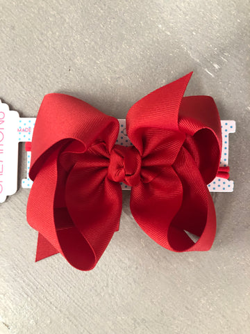 Red Bow on Headband