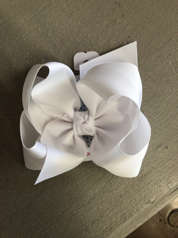 White Bow on Headband