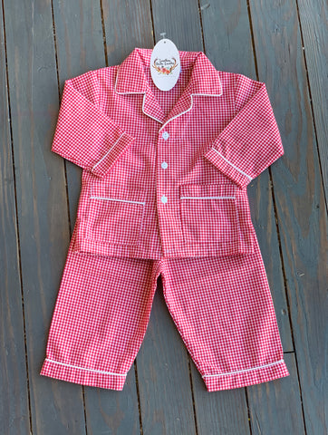 Boy Red Gingham PJ