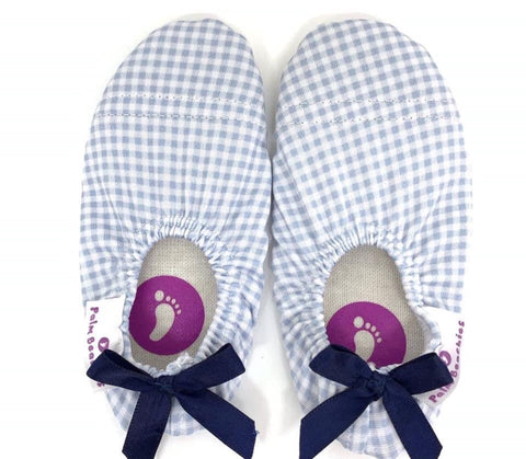 Palm Beachies Swim Shoe - Blue Gingham with Bow