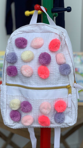 Pastel Poms Mini Backpack