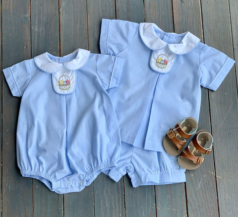 Blue Easter Basket Boy Set