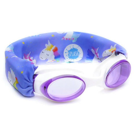 Splash Swim No Pull Goggles - Unicorn Rainbow