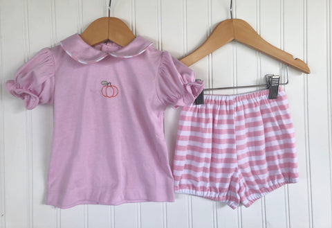 Knit Pink Pumpkin Bloomer Set