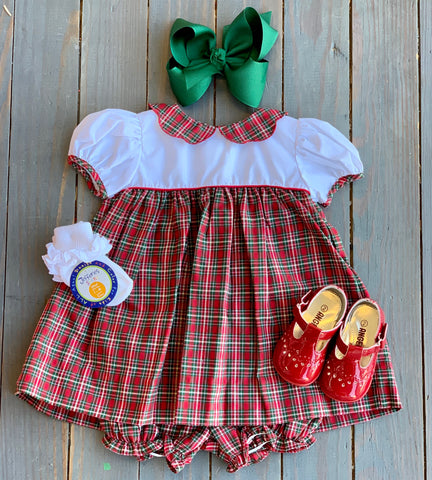 Christmas Plaid Peter Pan Dress