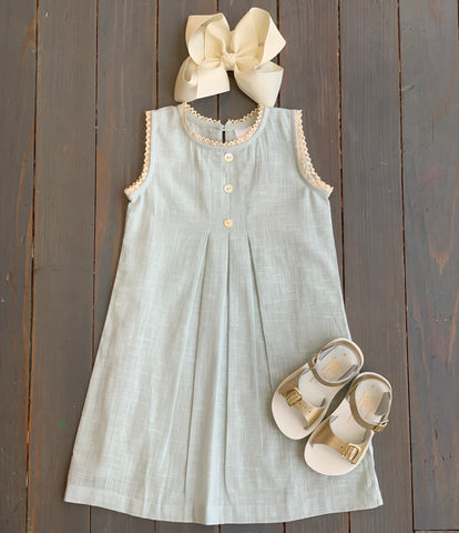 Light Blue Sleeveless Dress