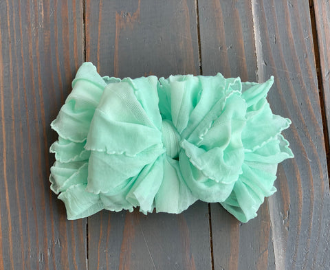 Mint Ruffle Headband
