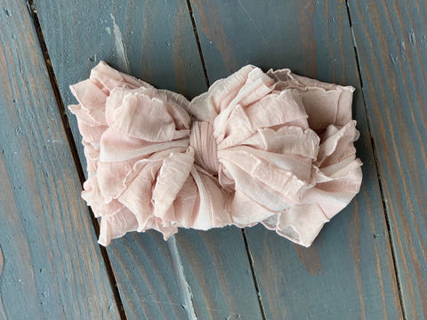 Dusty Pink Ruffle Headband